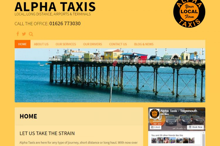 Portfolio - Alpha-Taxis.co.uk - AJR Design (Alex J. Ramsden)